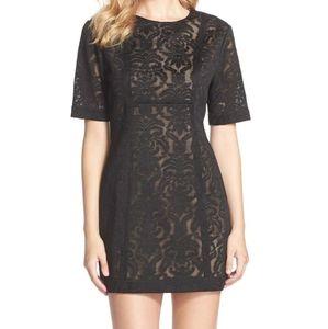 BCBGMaxAzaria lace shortsleeve Ceara dress Sz 10